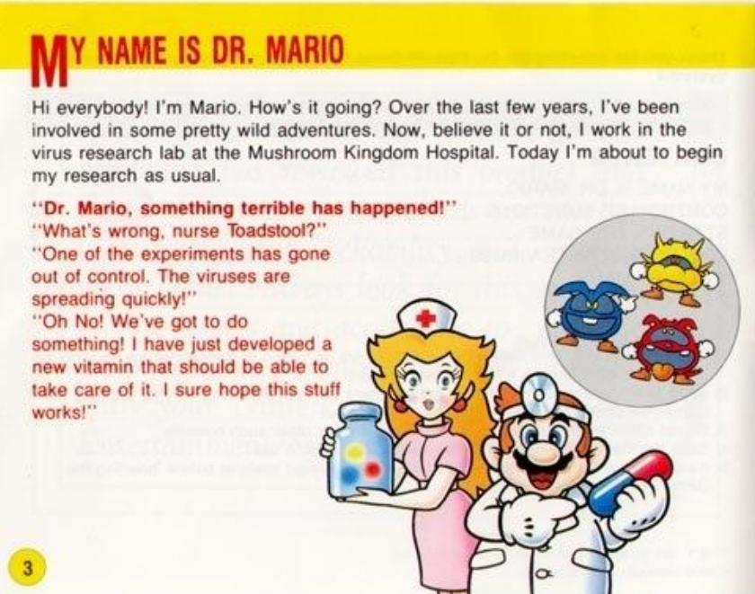 Dr Mario Booklet